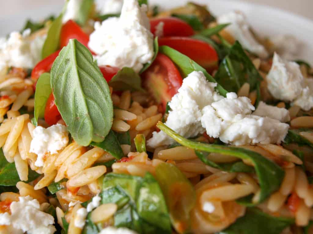 Double Tomato Orzo Salad | Mae's Menu