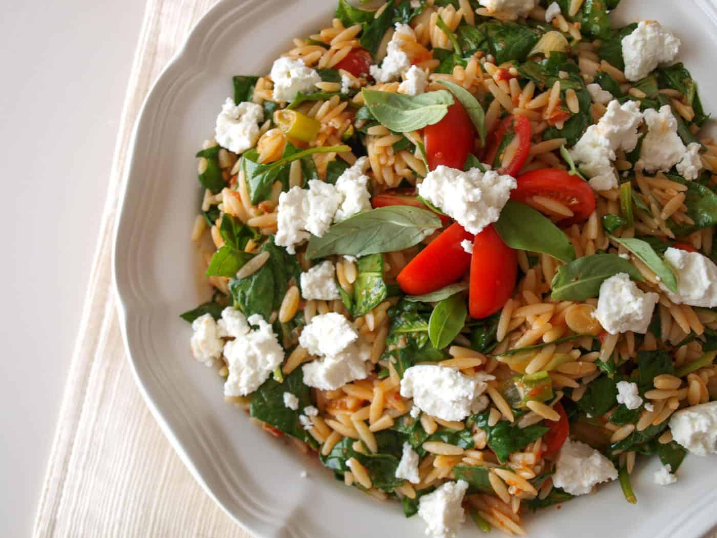 Double Tomato Orzo Salad | Mae's Menu