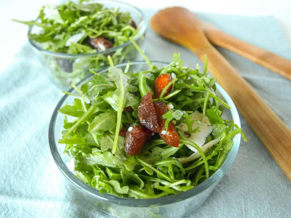 Easy Arugula & Apricot Salad | Mae's Menu