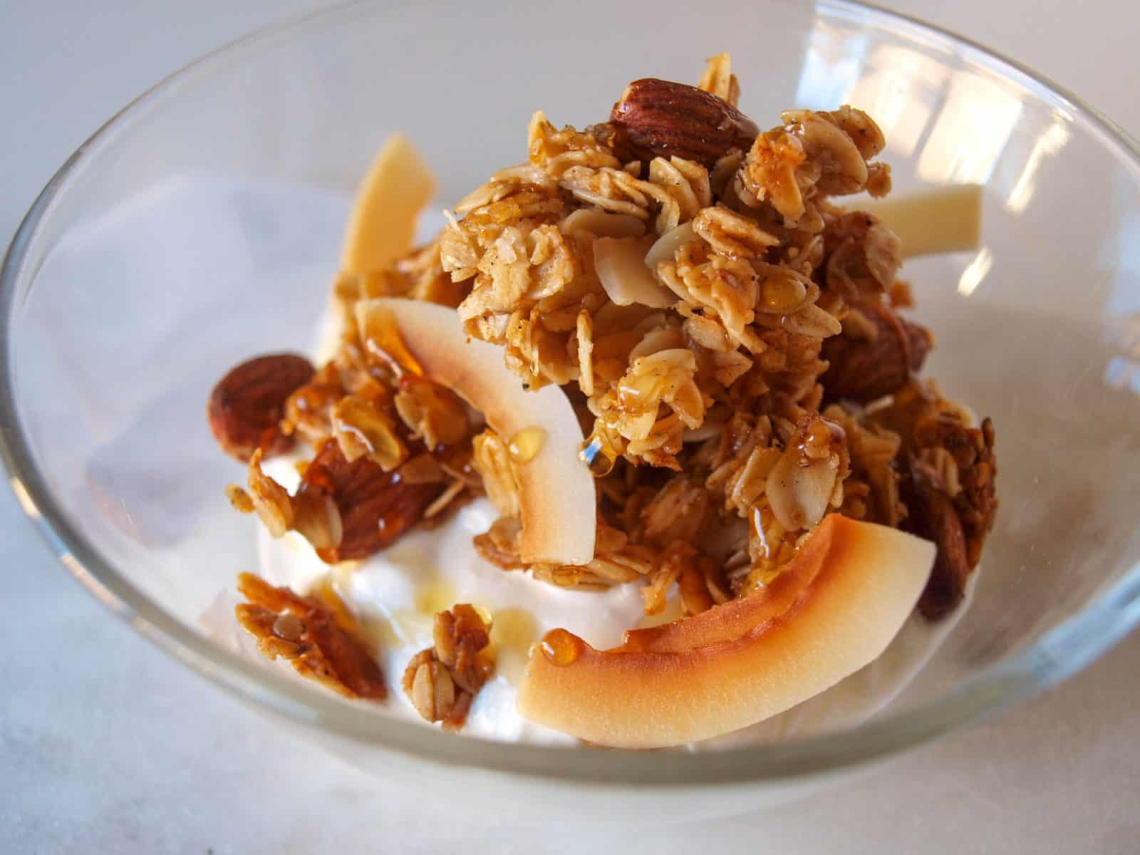 Coconut Vanilla Spiced Granola | Mae's Menu