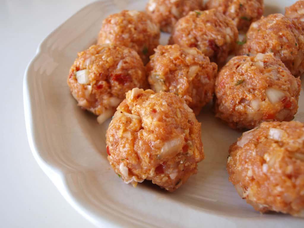 Juicy Chicken Sausage Meatballs Ready To Cook | Mae's Menu