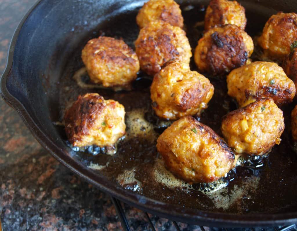 Juicy Chicken Sausage Meatballs | Mae's Menu