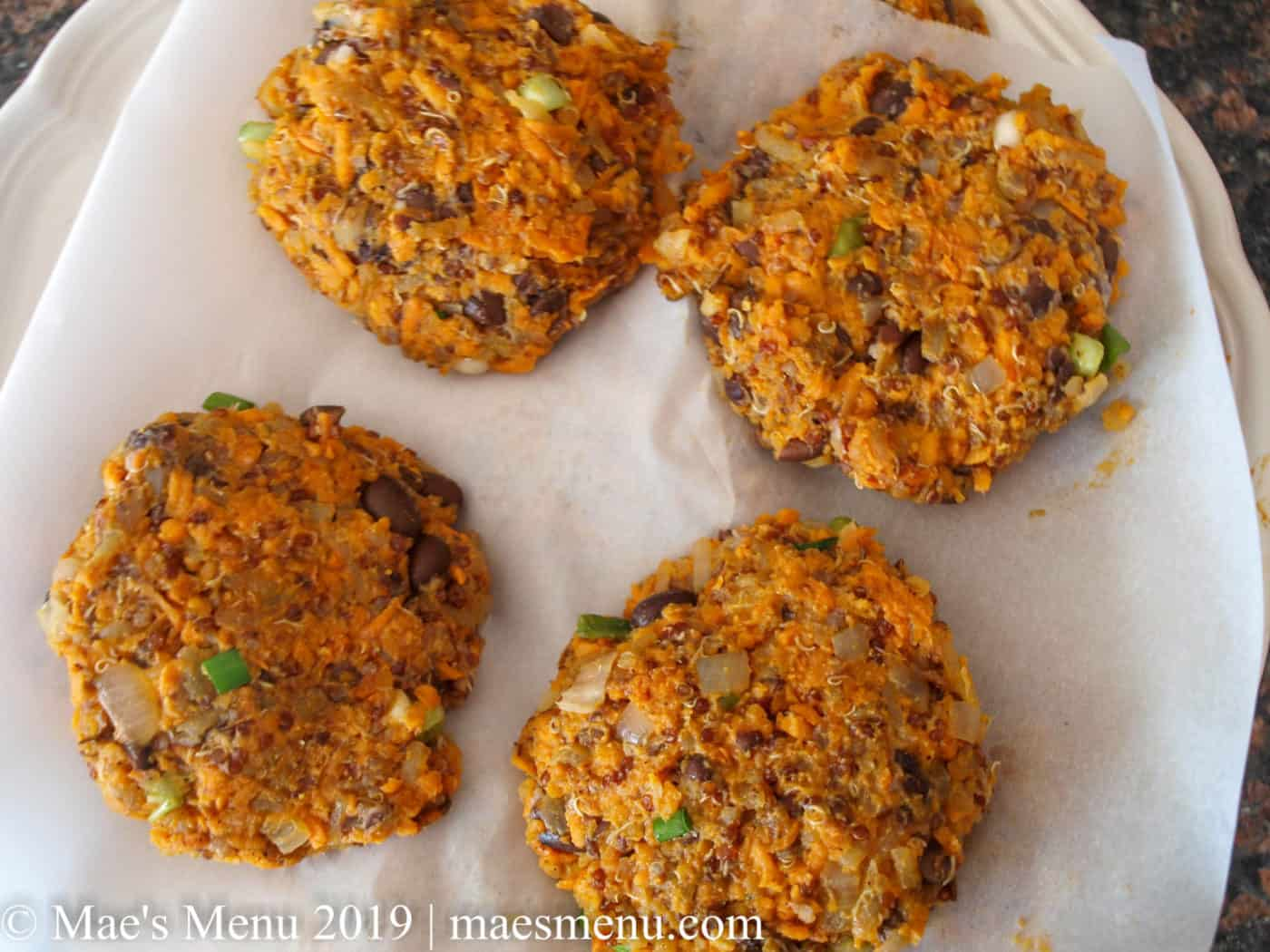Chilled Sweet Potato Hash Brown Burgers | Mae's Menu