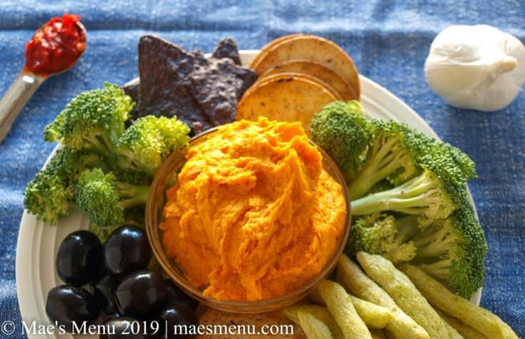 Sweet Potato Hummus with Harissa