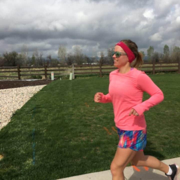 Chelsea Plummer of Mae's Menu, running.
