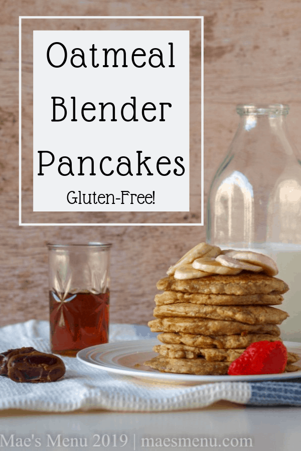 Pinterest pin for oatmeal flour pancakes.