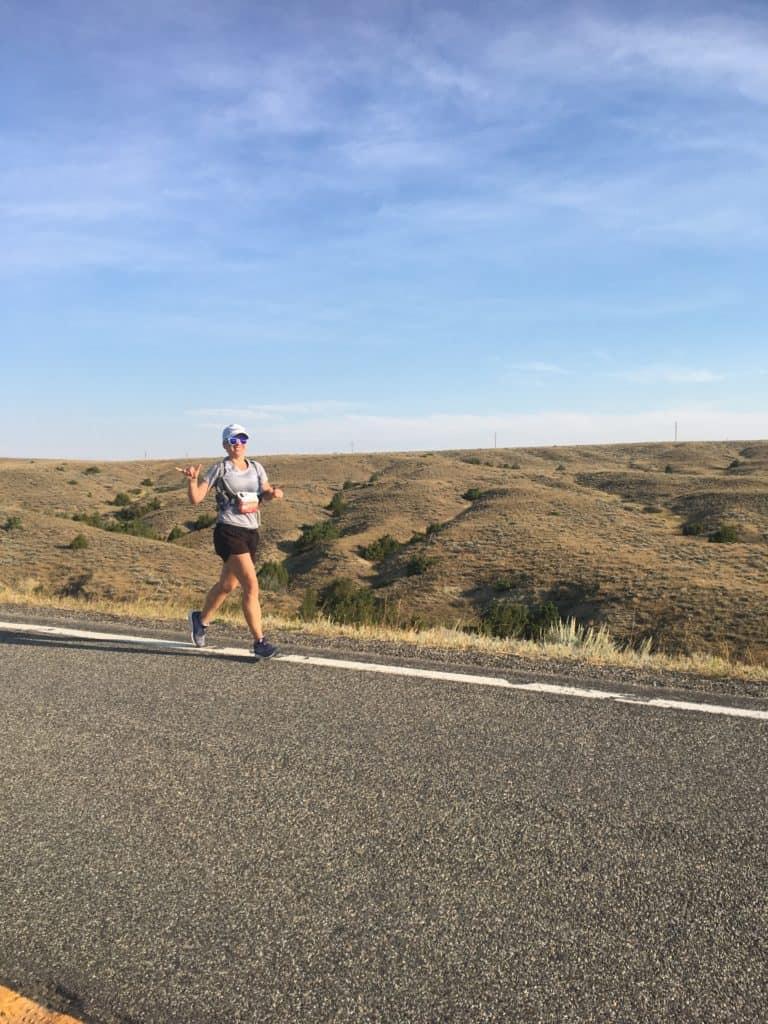 Running at the Montana Marathon.
