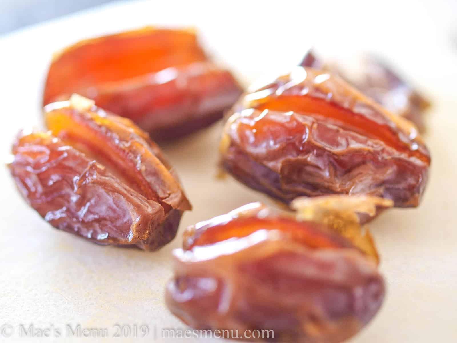 Up-close shot  of medjool dates.
