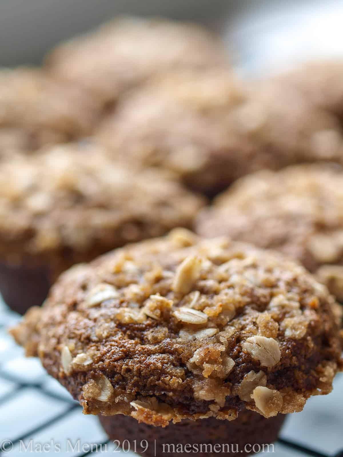 A rack of healthy pumpkin spice blender muffins