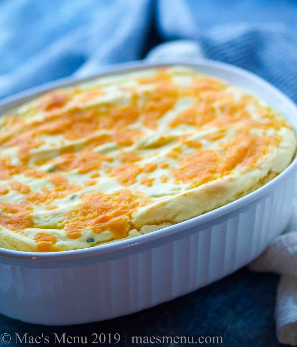 Twice baked potato souffle.