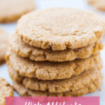 A stack of high altitude peanut butter cookies