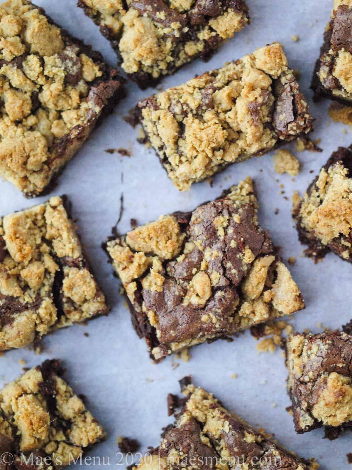 A sheet of Peanut Butter Brookies (Peanut Butter Brownie Cookies)