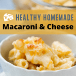 Pinterest pin for homemade macaroni and cheese