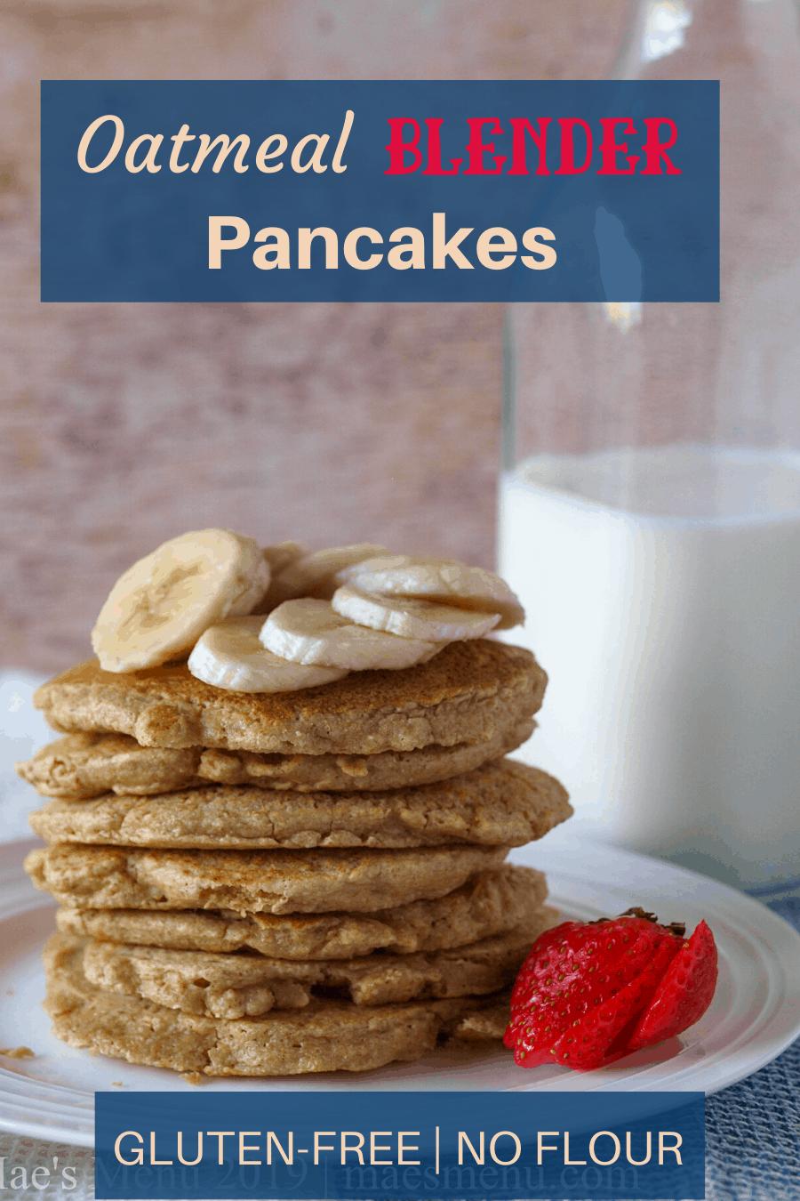 oatmeal blender pancakes