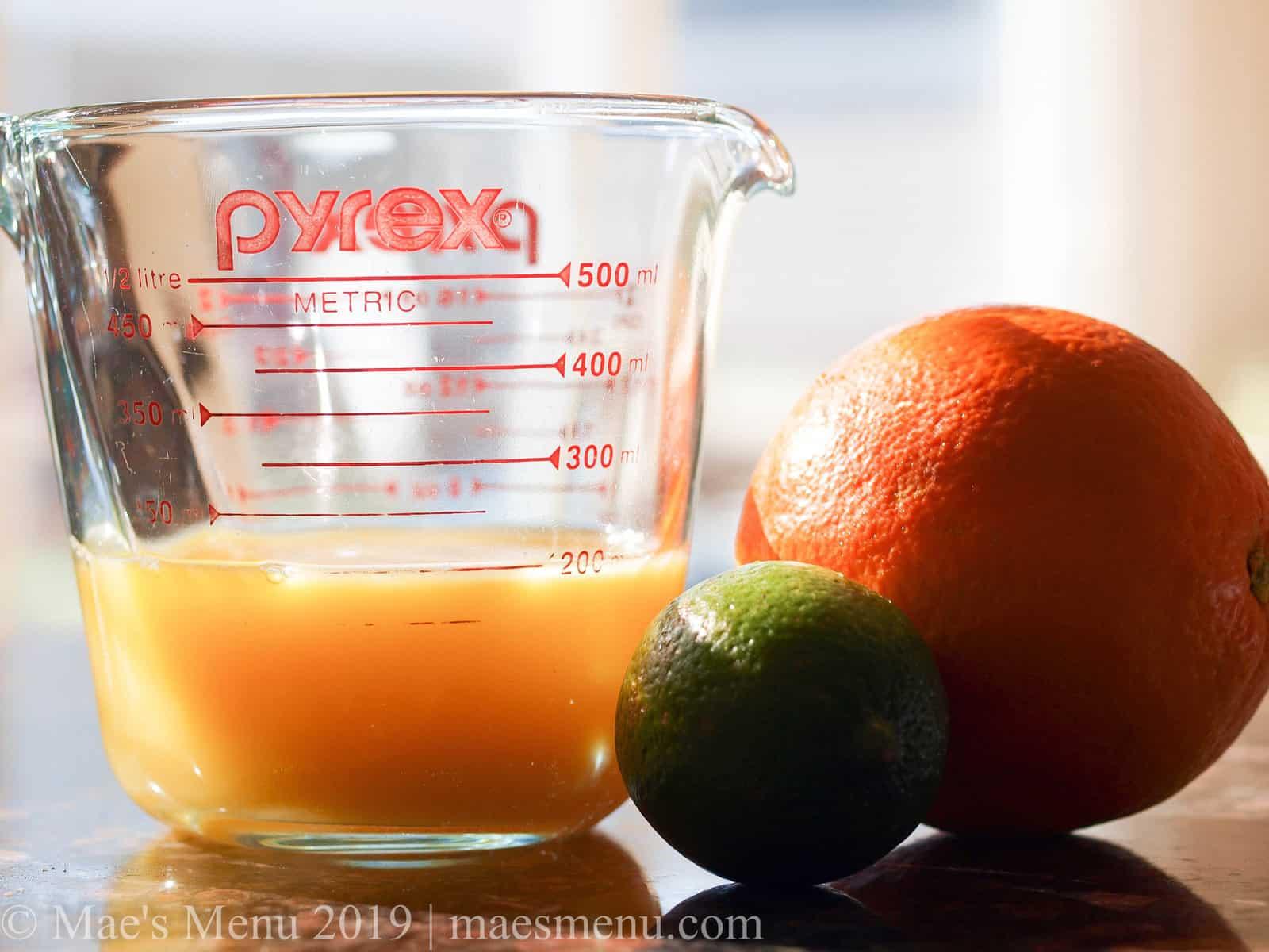 Citrus juice for my turkey carnitas recipe.