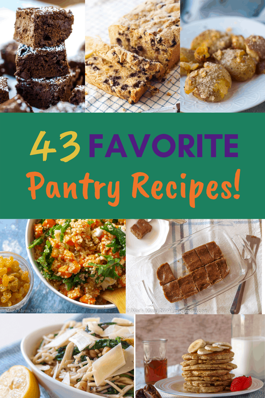 Pinterest Pin for favorite pantry recipes