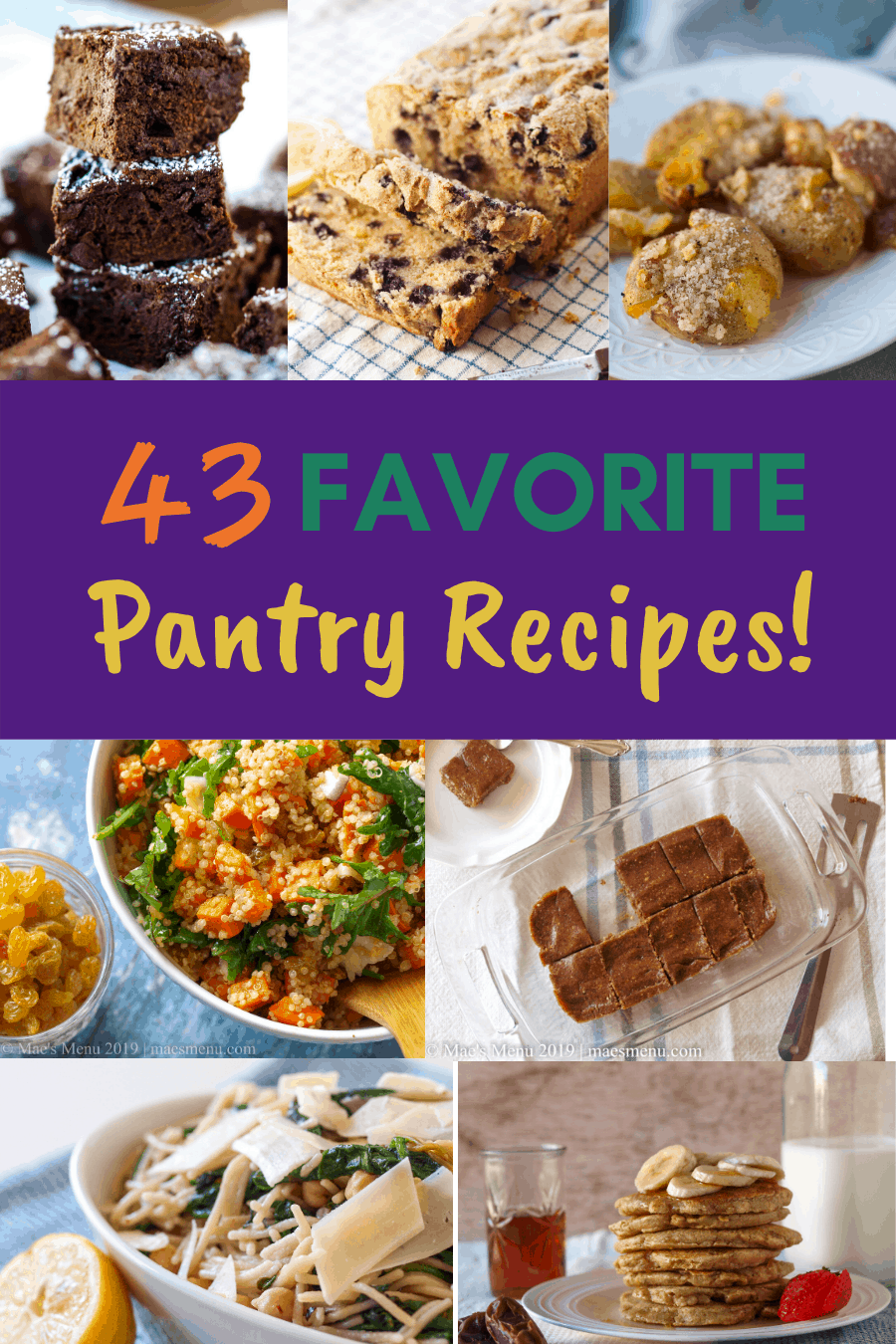 Pinterest pin for 43 favorite pantry recipes