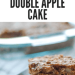 A pinterest pin for flourless double apple cake