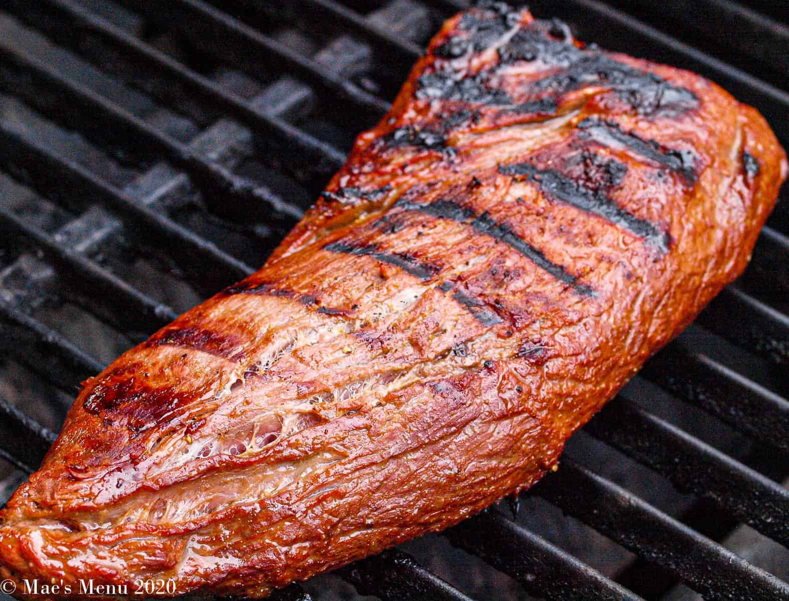 a tri tip on the grill