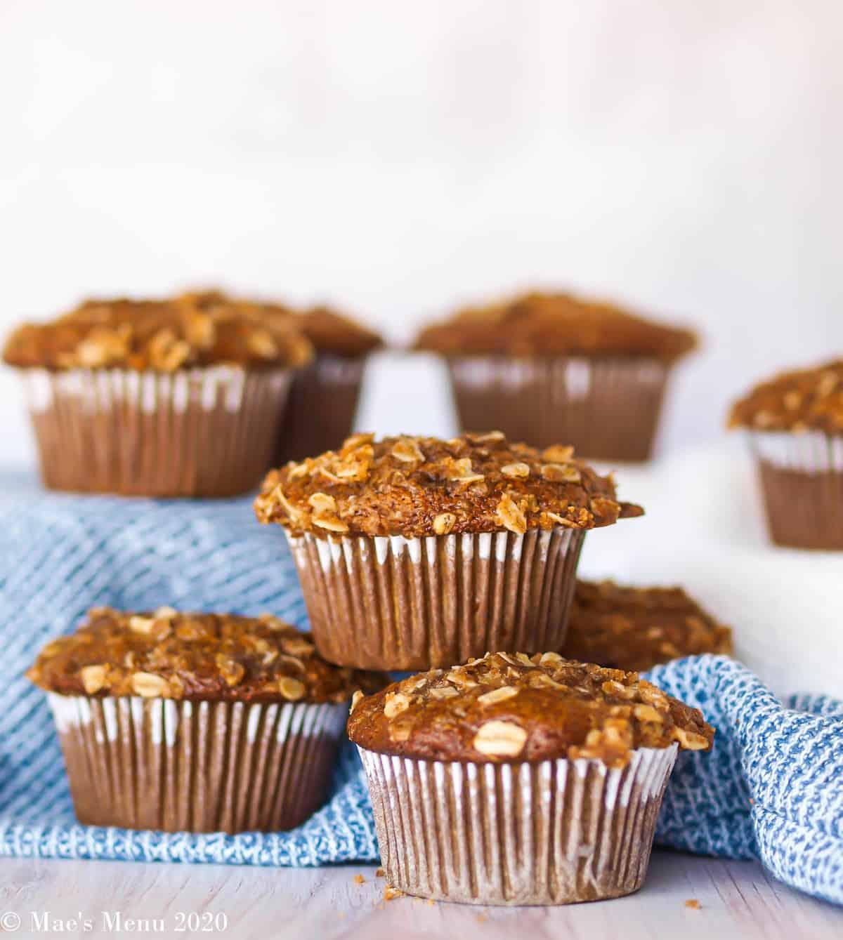 Gluten-free pumpkin muffins on tiered stands