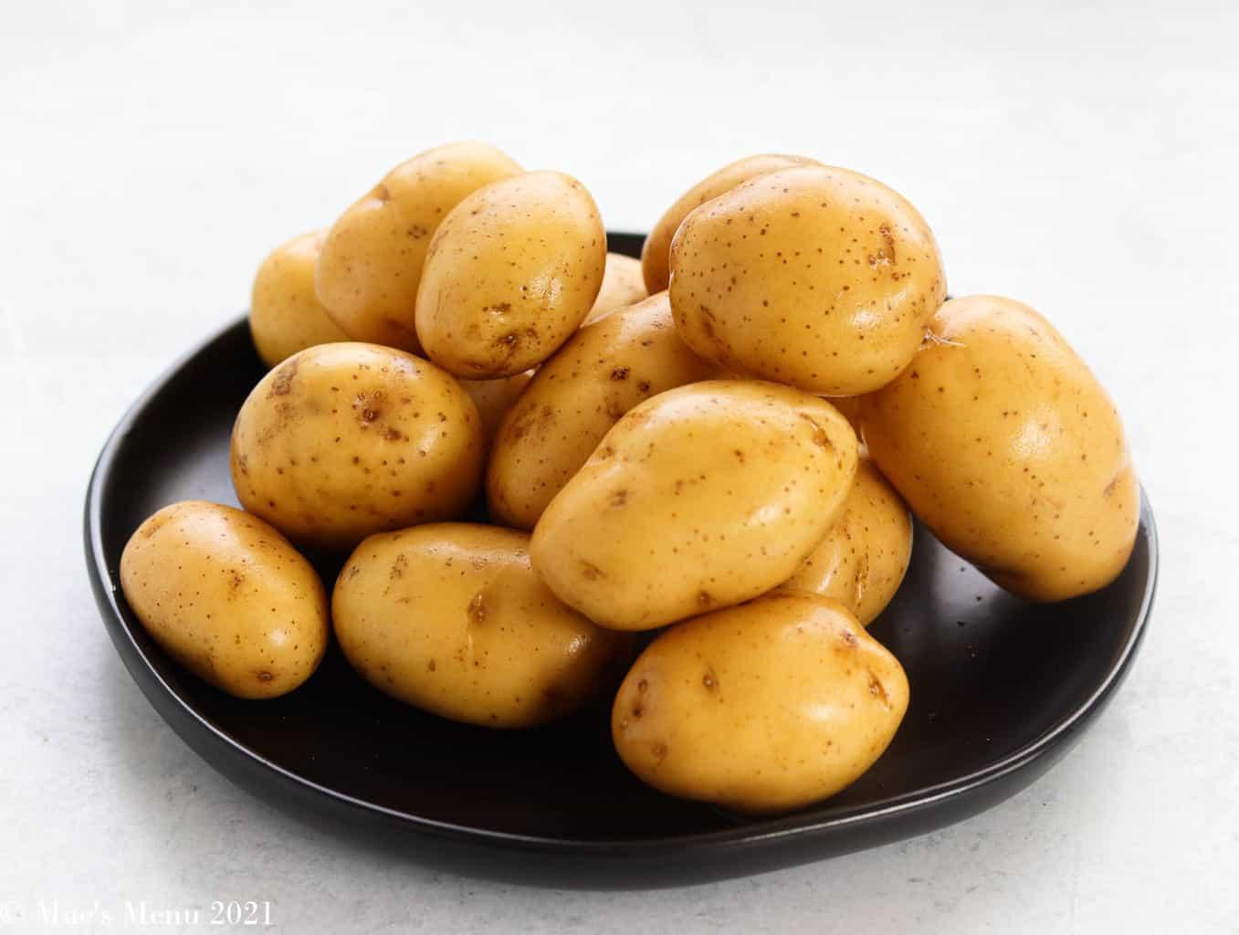 baby yukon gold potatoes on a plate