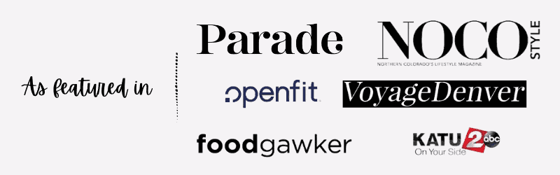 As featured in parade, KATU, foodgawker, openfit, voyage denver, and noco style magazine