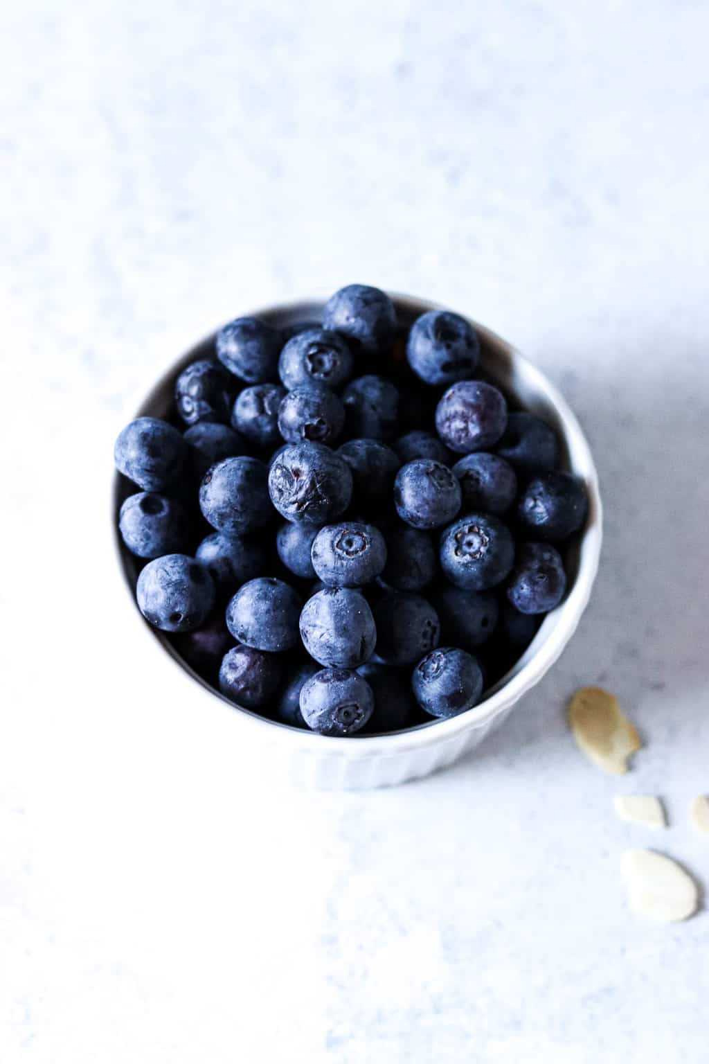 A cup of blueberries